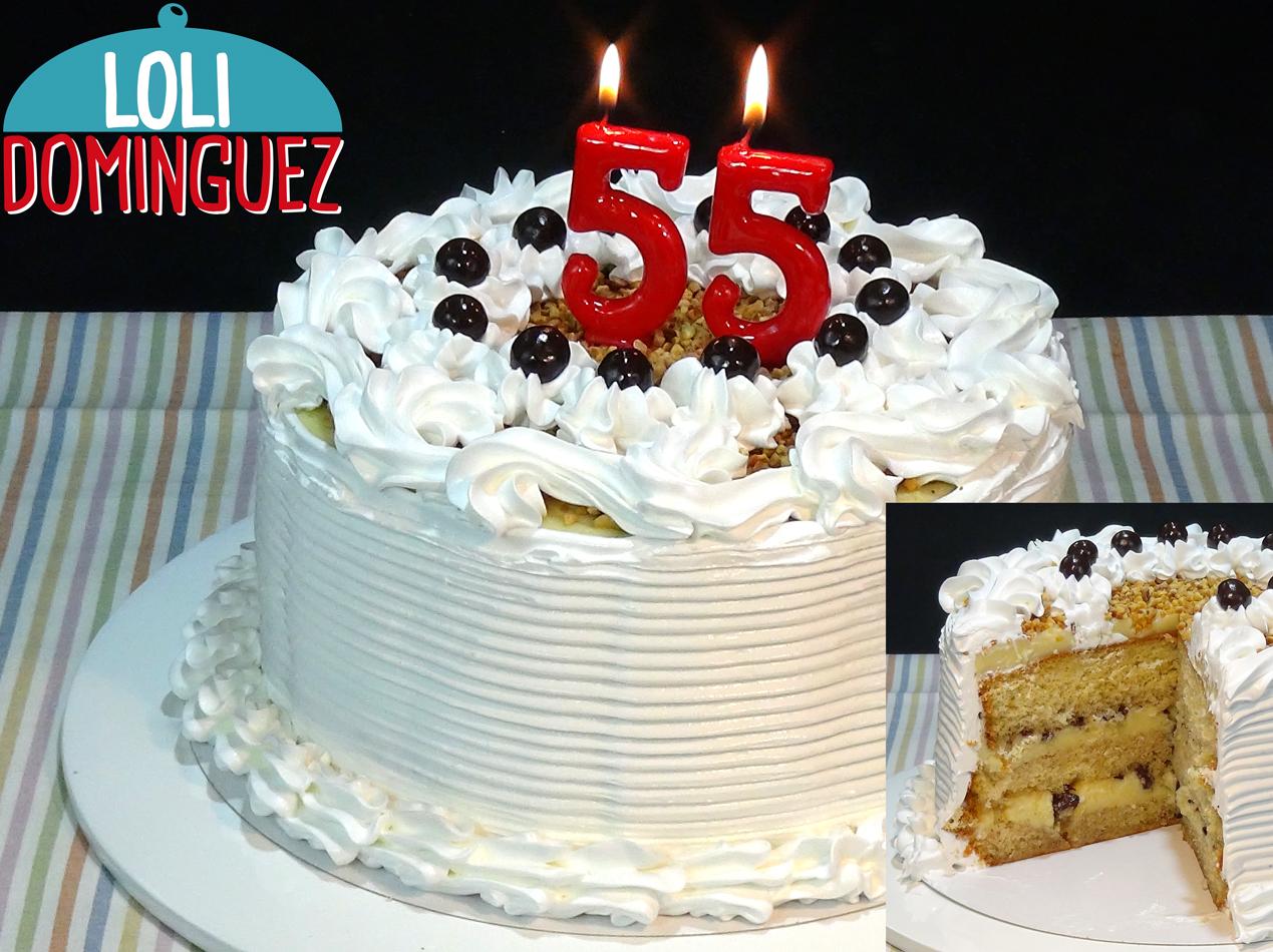 Tarta De Cumpleaños Con Crema Pastelera Y Merengue Loli Domínguez